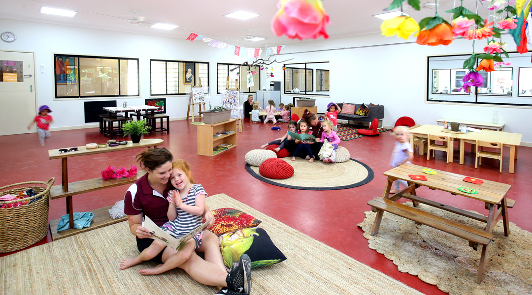 Reading time at Adeon'a Coorparoo childcare centre