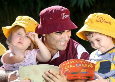 Story time at Adeona Mitchelton