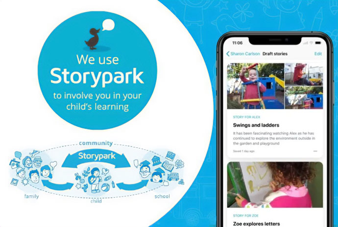 Adeona Mitchelton uses Storypark as one way to communicate with parents